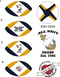 ALL NAVY RUGBY BALL