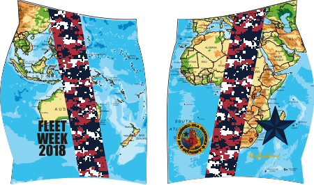 2018 SU COMBINED SEA SERVICES RUGBY SUBLIMATED SHORTS