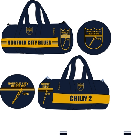 NORFOLK BLUES  Sublimated Kit Bag
