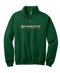 CHARLOTTE RUGBY JERZEES 1/4 ZIP SWEAT SHIRT