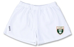 CHARLOTTE Olympus Rugby Shorts with logo WHITE