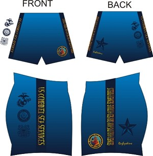 2017 SU COMBINED SEA SERVICES RUGBY SUBLIMATED SHORTS