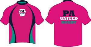 PA UNITED RUGBY WARM UP SHIRT MAGENTA