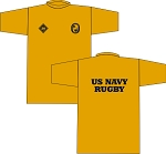 2019 US NAVY RUGBY WARM UP SHIRT