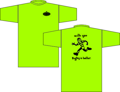 RUGBY IS BETTER WITH YOU T-SHIRT LIME