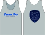 EASTERN BAY RUGBY  LOGO WICKING  TANK SILVER