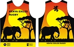 2020 KENYA EXILES RUGBY SUNSET TRAINING SINGLET