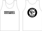 KERN COUNTY RUGBY LOGO WICKING  TANK WHITE