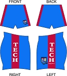 LA TECH RUGBY ALUMNI SUBLIMATED SHORTS