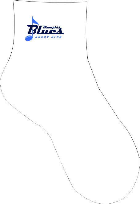 MEMPHIS BLUES RUGBY ANKLE SOCKS