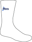 Memphis Blues Banner Rugby Training Socks