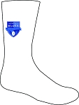 Memphis Blues Crest Rugby Training Socks