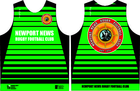 NEWPORT NEWS RUGBY TRAINING SINGLET