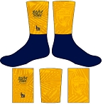 PENSACOLA RUGBY  FULL SUB GOLD CREW SOCKS