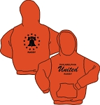 PHILLY UNTIED RUGBY GILDAN 50/50 HOODY SPORT ORANGE