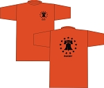 PHILLY UNITED RUBGY LOGO T- SHIRT ORANGE
