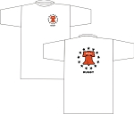 PHILLY UNITED RUBGY LOGO T- SHIRT WHITE