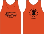PHILLY UNITED RUGBY LOGO WICKING  TANK ORANGE