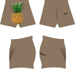 PINEAPPLE GANG RUGBY SUBLIMATED SHORTS