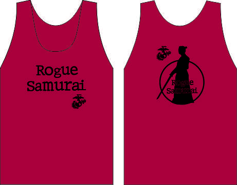 ROGUE SAMURAI RUGBY  WICKING  TANK  RED