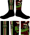 WANDERING WARRIORS CAMO CREW SOCKS