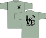NEW LOVE RUGBY COMPANY T-SHIRT SPORT GRAY