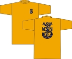 MCPO WICKING T-SHRIT GOLD
