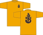 SCPO WICKING T-SHRIT GOLD