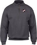 UVA W RUGBY POLY COTTON 1/4 ZIP SWEAT SHIRT