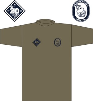2019 US Navy Rugby Training shirt