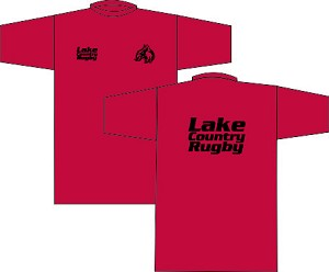 Lake Country Rugby Wicking Tee Red