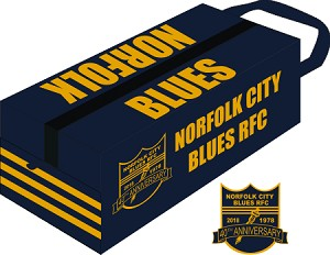 Norfolk Blues Backpack with embroidered logo
