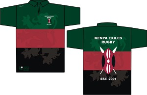 2020 Kenyan Exiles Flag Golf Shirt