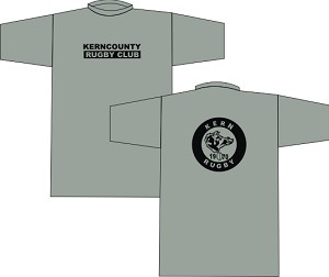 Kern County Rugby Logo T-shirt sport gray