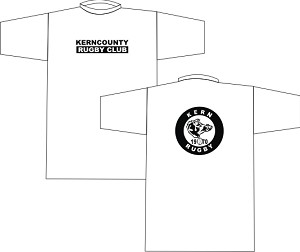Kern County Rugby Logo T-shirt White