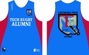 LA Tech Rugby Alumni Training/ Warm Up Singlet