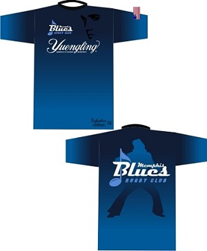 Memphis Blues Rugby Tech Tee