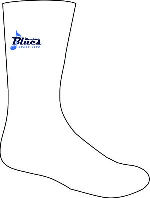 Memphis Blues Crest Rugby Training Socks White
