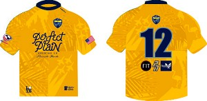2021Pensacola Gold Tech Tee