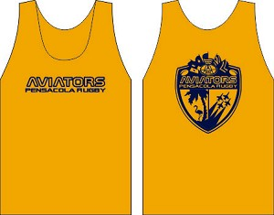 Pensacola Rugby Gold Wicking  Tank