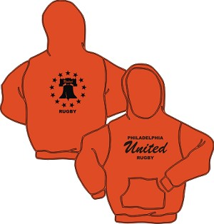 Philly United Rugby Gildan Hoody Orange