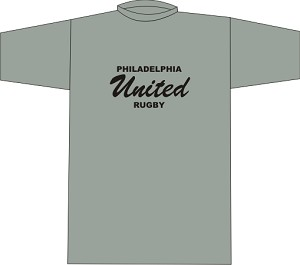 Philly United Rugby Locker Room T-shirt Sport Gray