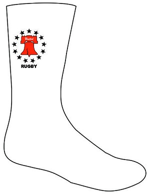 Philly United Rugby Training Socks White