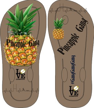 Pineapple Gang Flip Flops