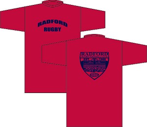 Radford Rugby Logo T-Shirt Red