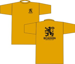 Reading Rugby Wicking  T-shirt Gold