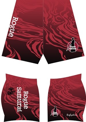 Rogue Samurai Sublimated SDX Shorts White