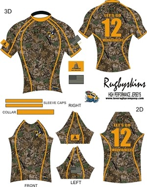 2012 WVU Men's Sevens/Training Jerseys