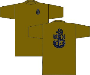 US Navy Chief Wicking T-Shirt Coyote