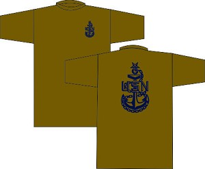 US Navy Senior Chief Wicking T-Shirt Coyote